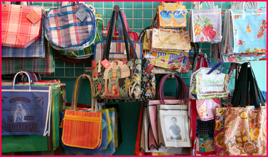 oilcloth bags and more accessories
