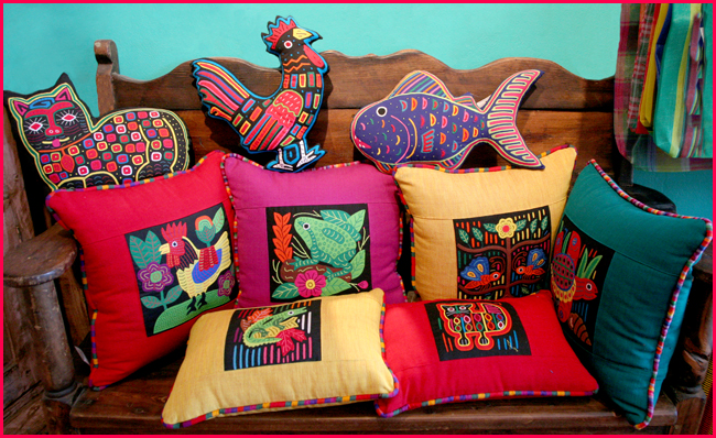pillows with embroidery